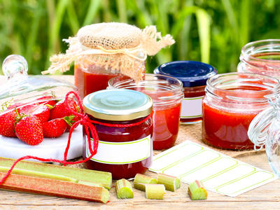 Summer Rhubarb-Strawberry Jam