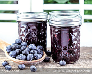 No Cook Blueberry Strawberry Jam