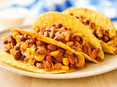 Cobble Corn Chili Tacos