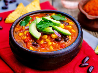 Black Bean and Cashew Chili