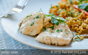 Filets of Sole in White Wine Sauce