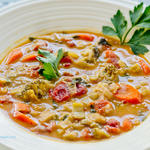 Creamy Vegetable Tahini Soup