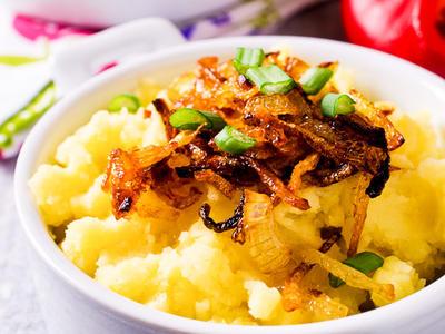 Grainy Mustard Mashed Creamy Potatoes