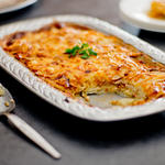 Caramelized Onions, Prosciutto and Potato Casserole