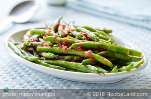 Easy Apple Cider Glazed Green Beans