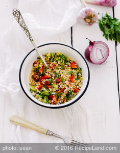 Tabouli with Parsley, Scallion, and Mint