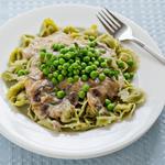 Spinach Tortellini with Creamy Mushroom Sauce