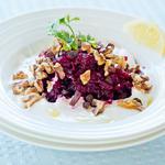 Beet, Walnuts, Dry Prunes and Garlic Salad