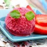 Fresh Strawberry Sherbet