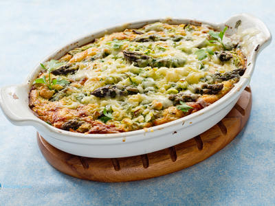 Impossible Asparagus and Ham Pie