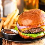 Grilled Hamburgers with Sour Cream and Herbs