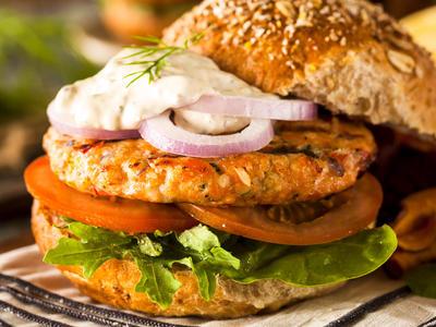 Super Salmon Burgers