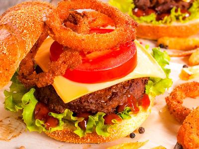 Hamburger with Almonds