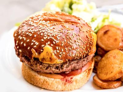 Horseradish-Garlic Burgers