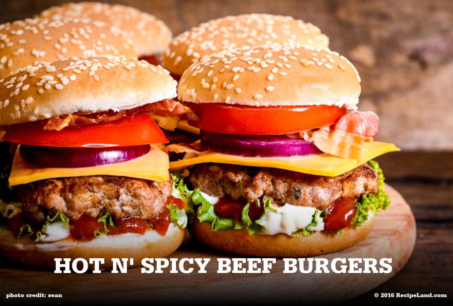 Hot N' Spicy Beef Burgers