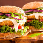 Loaded Veggie Oat Burgers