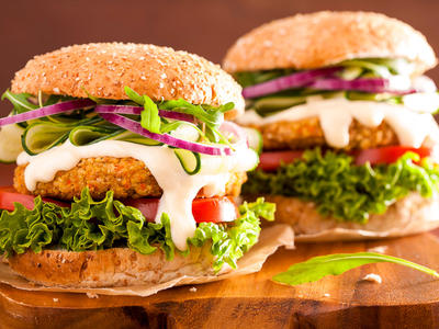 Loaded Veggie Oat Burgers
