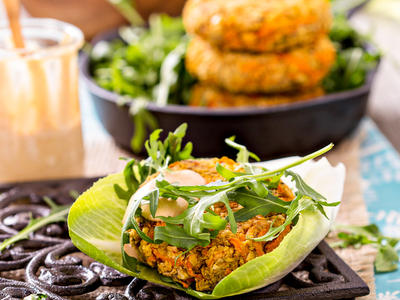 Lentil Sweet Potato Burgers