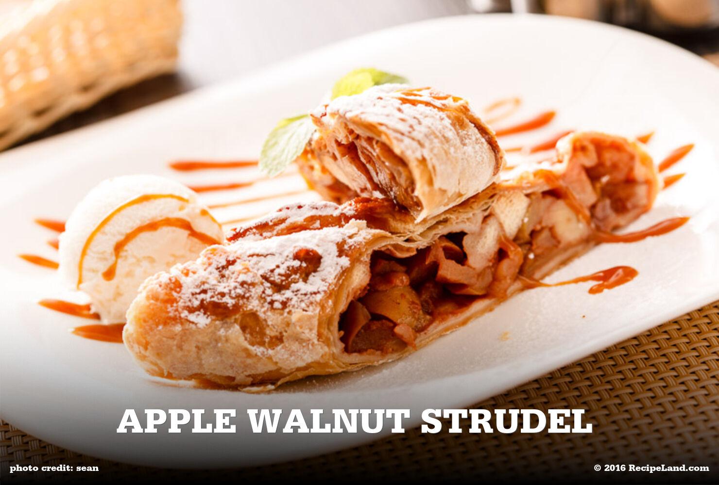 Apple Walnut Strudel