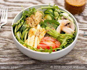 Japanese Vegetable Salad with Miso Dressing