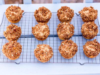 Peachy Pecan Muffins