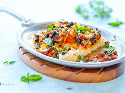Baked Cod Provencal