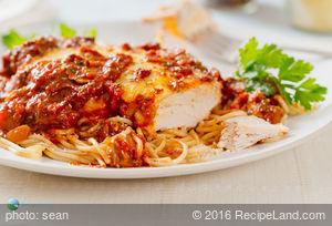 Easy Chicken Mozzarella Marinara