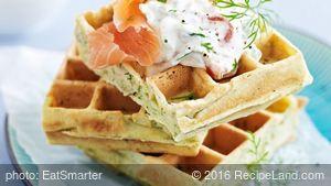 Savory Waffles with Salmon