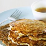 Pancakes with Syrup and Oatmeal