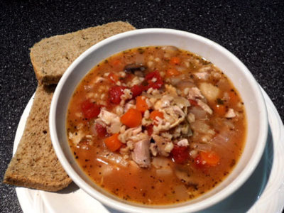 Grandma's Chicken and Barley Soup