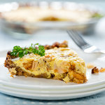 Leftover Stuffing & Turkey Quiche