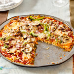 Pizza with Rice Crust (Gluten-free)
