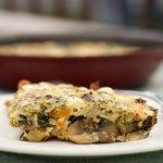 Mushroom, Tomato, Basil Frittata