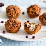 Blueberry Bran Molasses Muffins