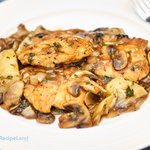 Quick, easy and tasty. Chicken cutlets in a quick pan sauce with wine, mushrooms and artichoke hearts. Great for a week-night meal as it comes together so quickly.