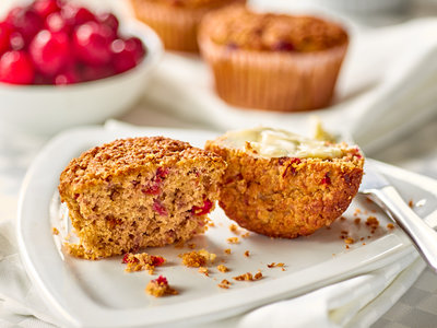 Orange & Honey Cranberry-Bran Muffins