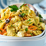 Quick, easy and filling Mediterranean-inspired Italian tortellini salad. This easy pasta salad can be made a day in advance.