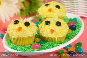 Baby Chicks Cupcakes-Easter