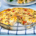 A upscale low-carb, gluten-free version of an easy tuna casserole. Whip together an easy crustless tuna quiche with just cheese, eggs and milk.