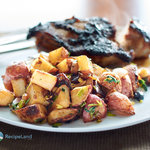 Garlic and Soy Roasted Potatoes with Scallions