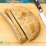 A rustic whole-grain free-form loaf barley bread recipe. Wonderfully rich and complex flavors with a hearty texture that's great when toasted and spread with your favorite toast topper.