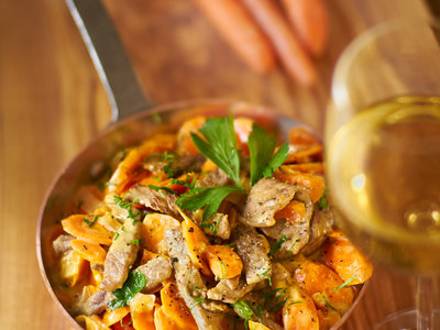 Beef Strips and Carrots