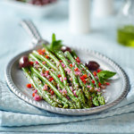 Italian asparagus.  How to cook asparagus Italian-style.  Classic flavor-packed cold marinated asparagus with an onion, caper, lemon and mint dressing. Perfect to make ahead and serve anytime with simple ingredients.