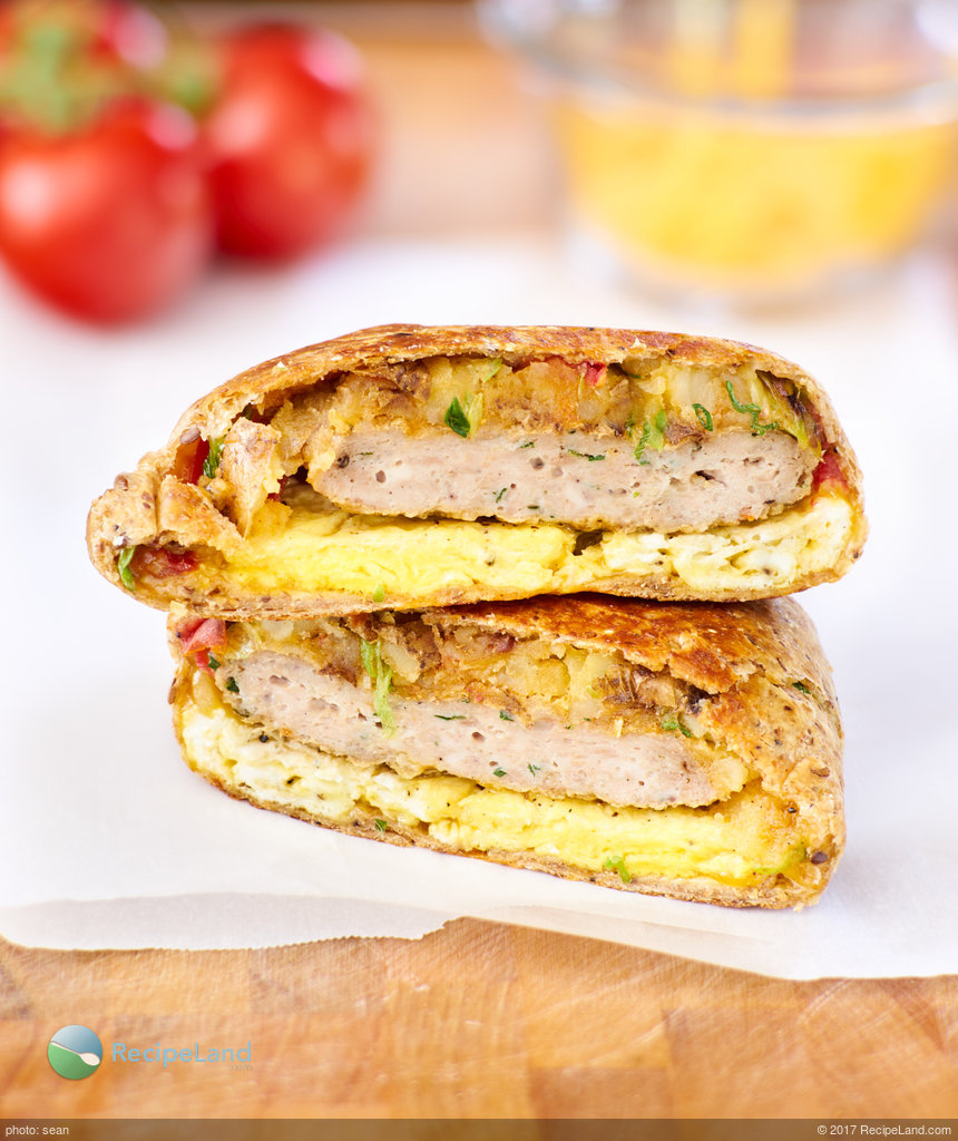 Crunchy Breakfast Wrap for Two
