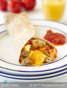 Cheesy Breakfast Sausage Tortillas