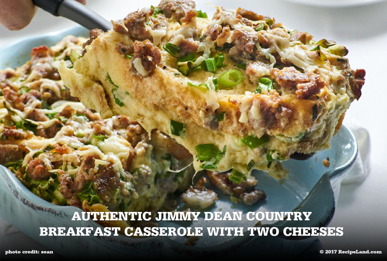 Authentic Jimmy Dean Country Breakfast Casserole with Two Cheeses
