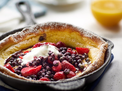 Berry Breakfast Puff for Two