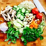 Loaded Vegetable and Quinoa Salad with Miso Orange Dressing