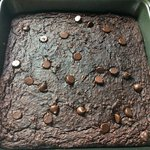 Delicious chocolate chip packed zucchini oat brownies made without flour or butter!  Vegan, gluten free, optional nut free, low sugar, and high in fibre - SO YUM!