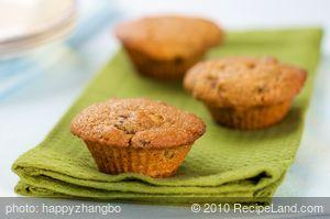 Whole Wheat Pumpkin, Raisin and Nut Muffins